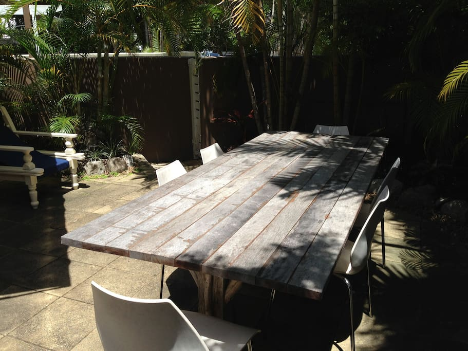 Outdoor entertaining area with BBQ