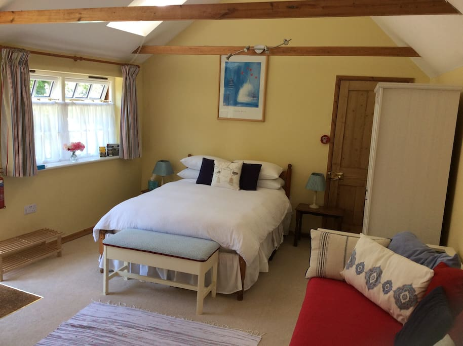 Your bedroom with a lovely comfortable double bed.