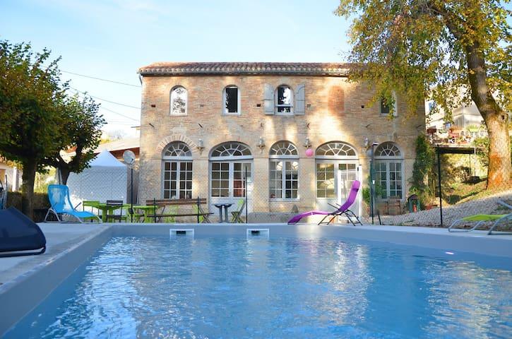 Gîte piscine et spa PARC WAECHTER - Molières - Ház