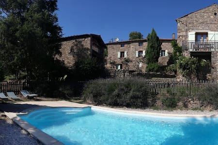 Gite en Ardèche verte 5 personnes - Saint-Alban-d'Ay - Rumah