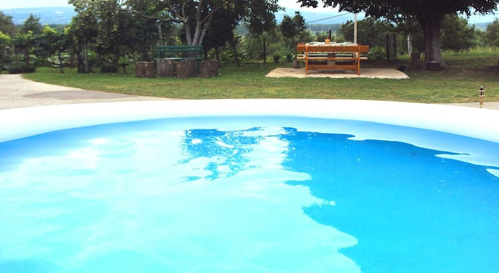 Apt for 6+1 persons with pool in Plomin R72151