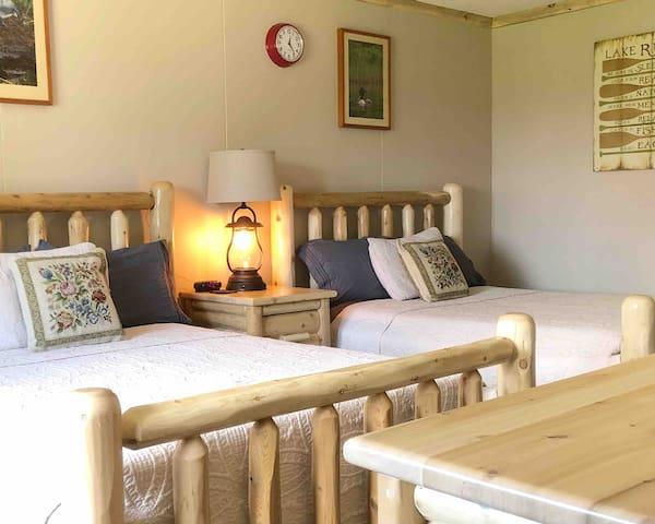 Double Motel Room at Twin Cedars Resort