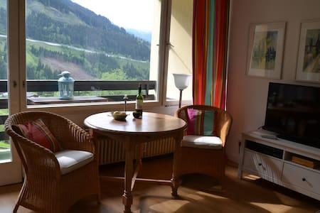 Panoramablick aus Zweizimmerwohnung - Badgastein - Huoneisto
