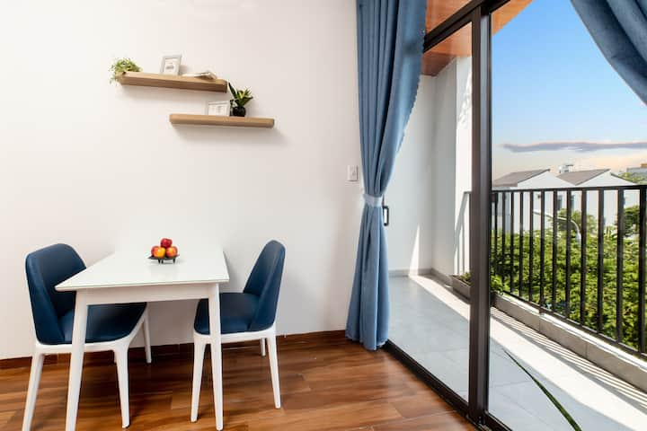 One private bedroom, fully furnished, balcony