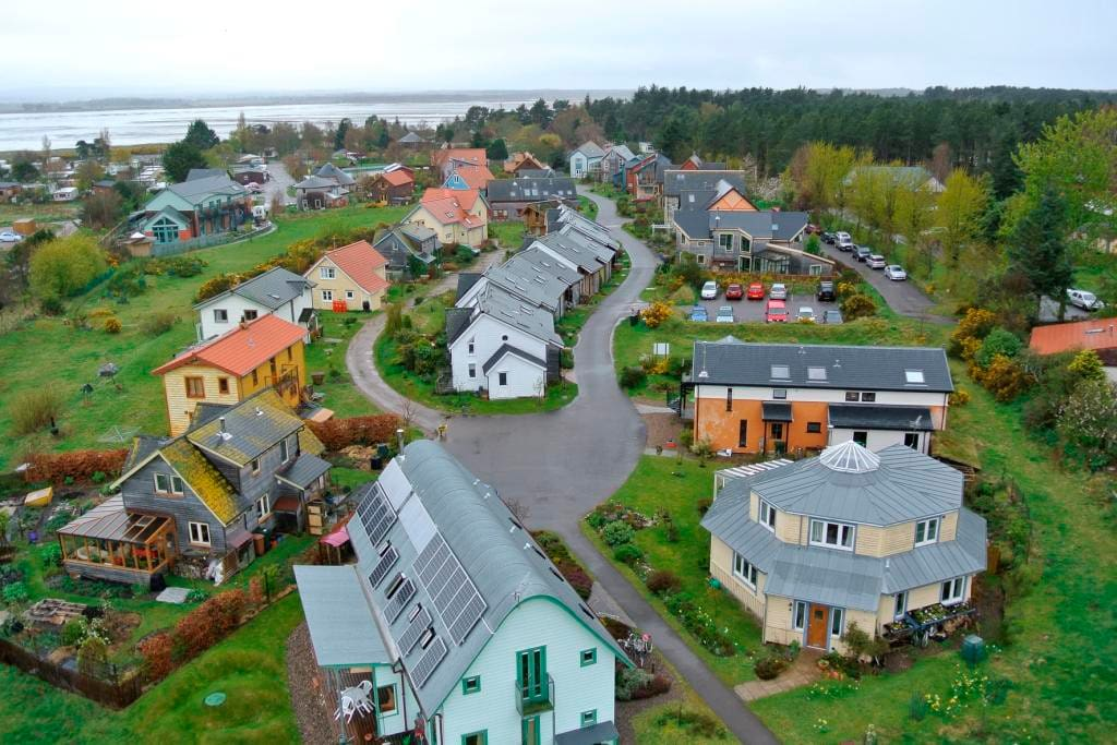 Aerial view of Eco Housing