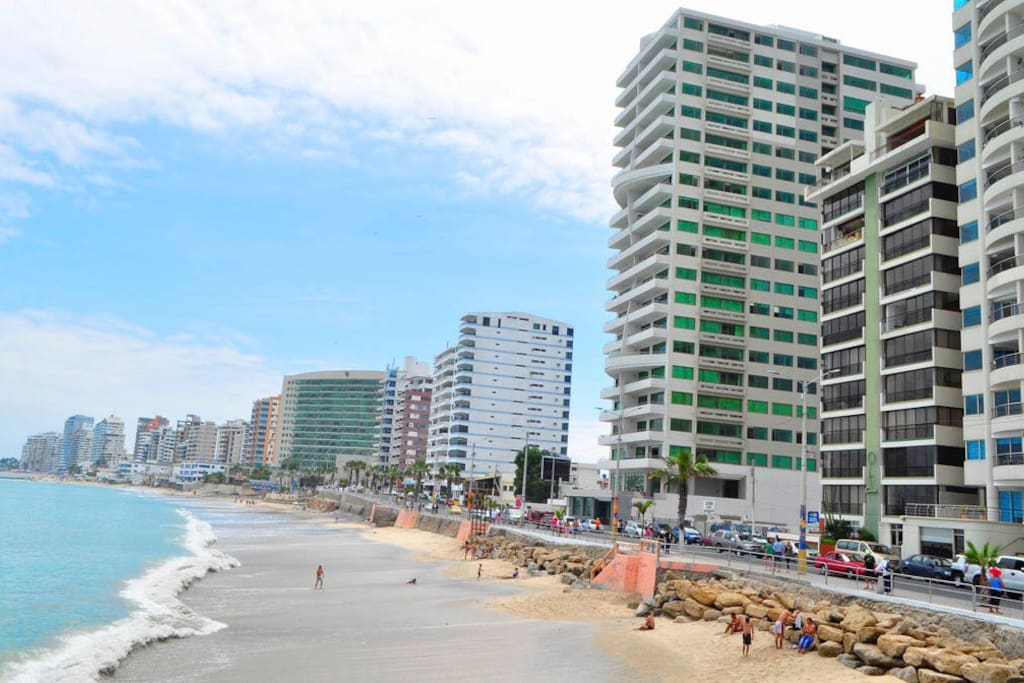 Our Beach House is 96m away from the Malecon/Beach.