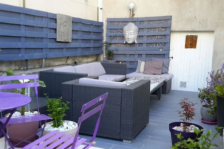 chambre au calme vue sur jardin