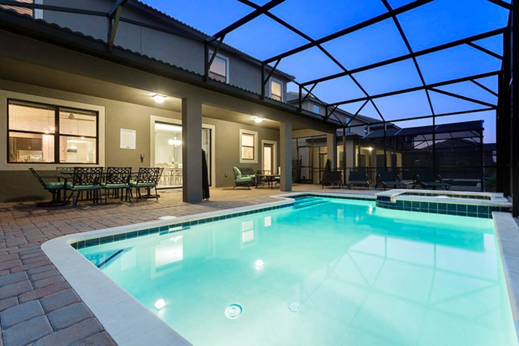 Evenings by your private pool will be simply magical