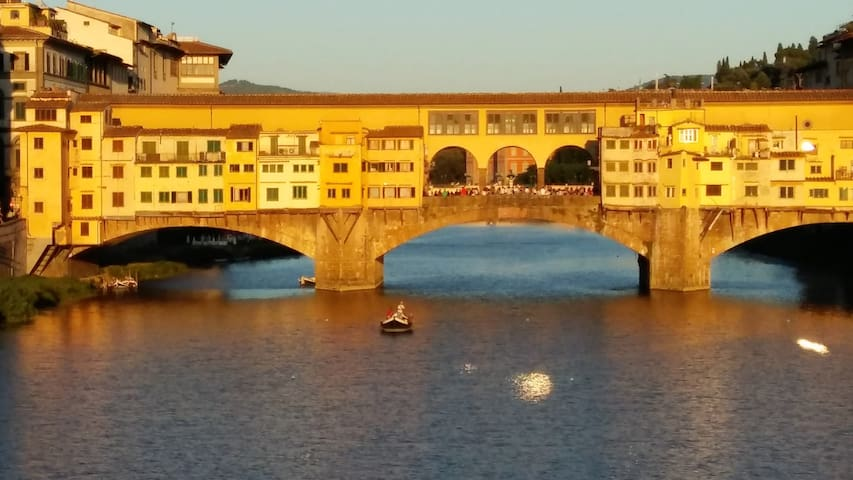 TOUCHING WITH A FINGER THE BEAUTIFUL PONTE VECCHIO