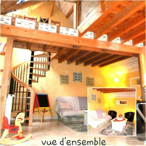 Loft 100m² Chambord avec extérieur - blois - Loft