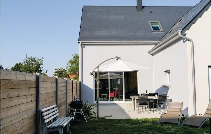 Beautiful home in Saint Germain sur Ay with WiFi and 2 Bedrooms