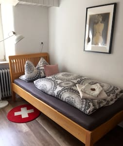 Ostallgäu klein & fein: Zimmer in altem Stadthaus - Kaufbeuren - Rumah