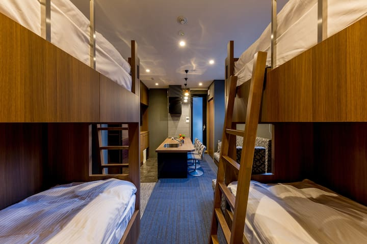 Two bunk beds are available.