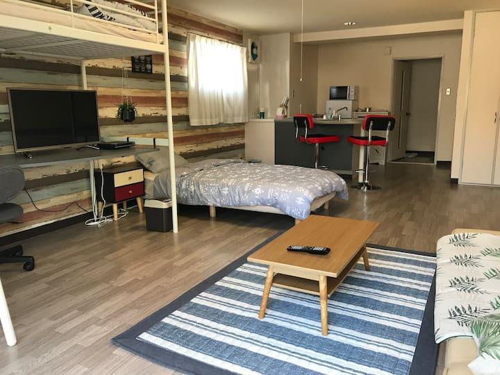 立地最高‼︎治安よし、長期滞在にも最適!最大3人様まで宿泊可能。