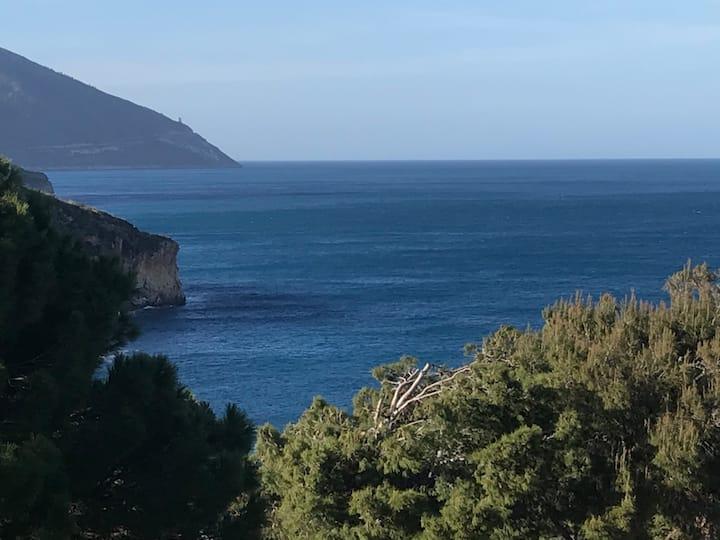 villa davanti faraglioni di Scopello ,fronte mare