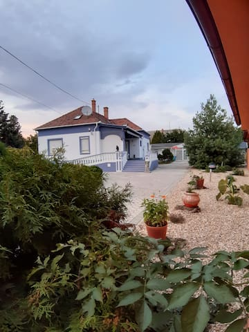 Villa with large, fenced-in (wall/ gated) garden