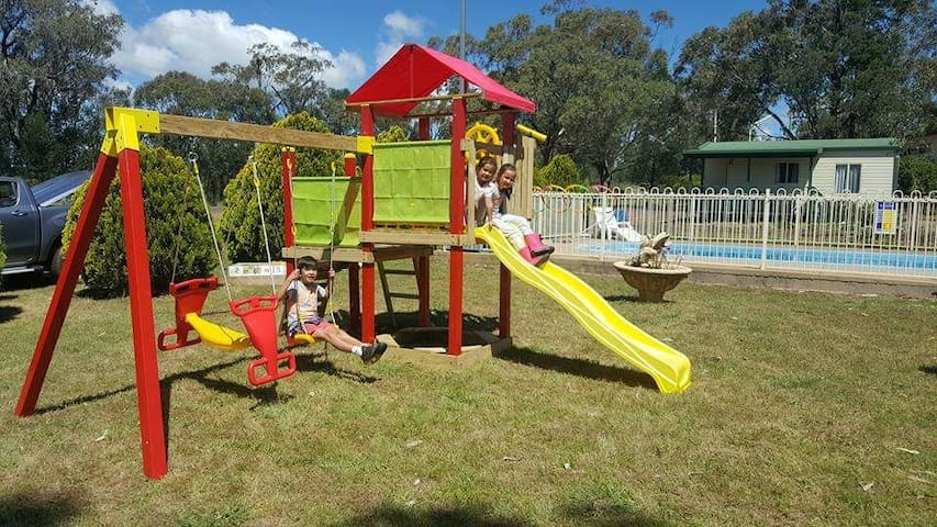 Play equipment available for all guests