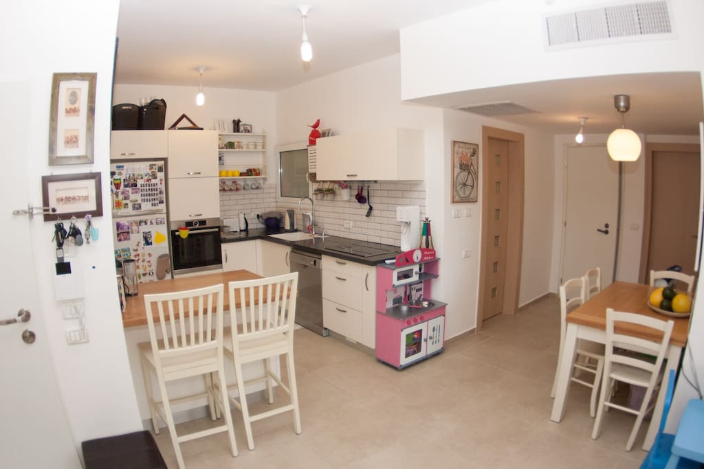 Fully equipped kitchen with all cooking and baking equipment.