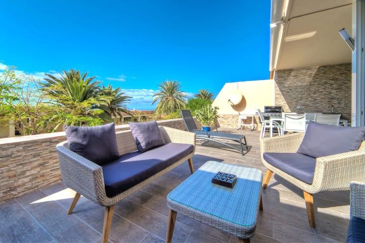 Luxury apartment with bbq, heated pool, Marazul