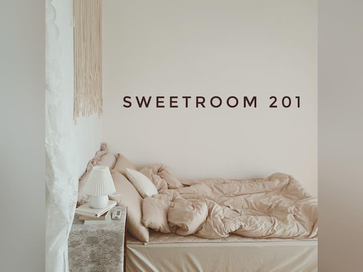 <sweetroom201> 완전청결 / 인스타감성 / 커플숙소 놀러오세요 :)♡