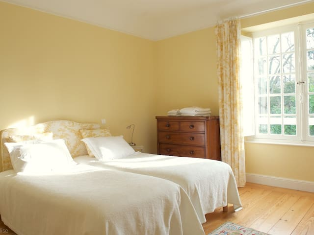 The Yellow Bedroom in the Manor House