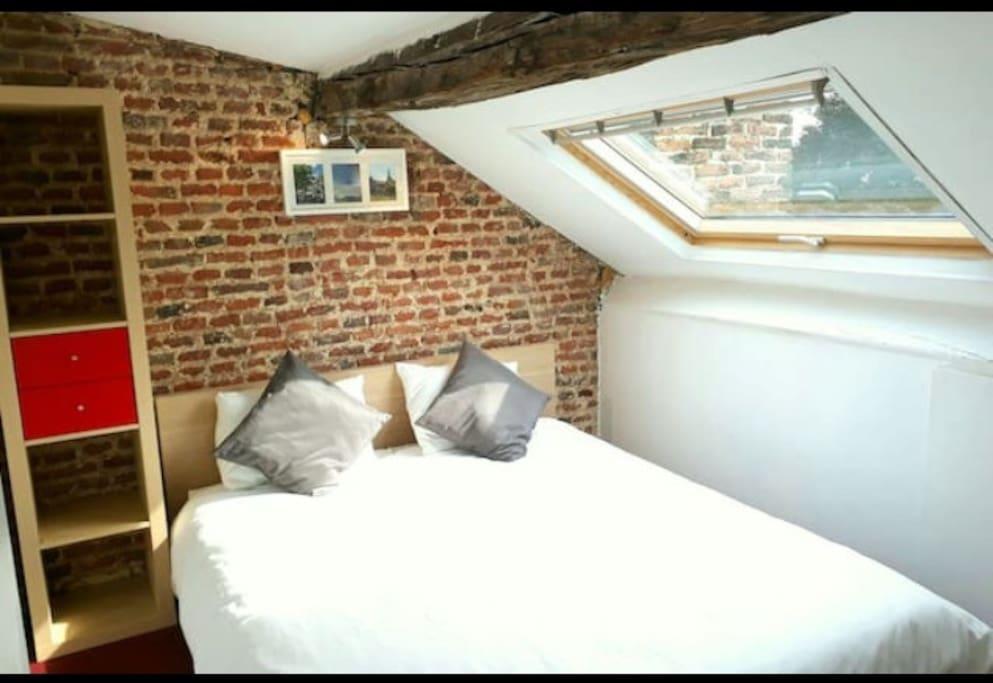 Chambre 2 - lit Queen size avec vue exceptionnelle