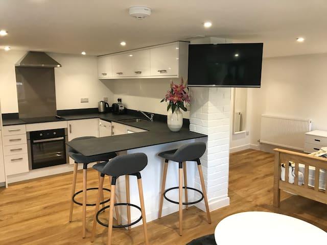 Scandinavian inspired studio apartment