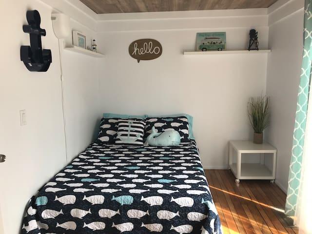 Bedroom #2 - Queen bed has private patio
