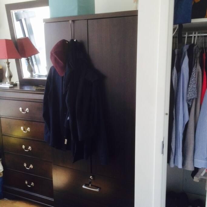 Dressers and closet