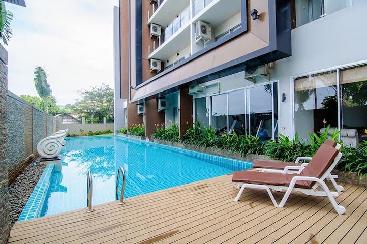 Уютная квартира-студия рядом с пляжем Карон - Tambon Karon - Daire