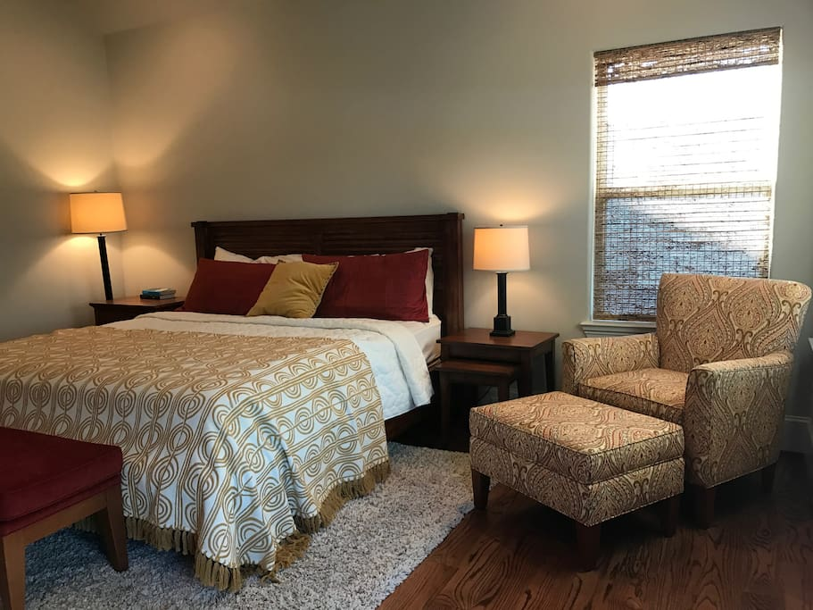 Guest bedroom with master bed.