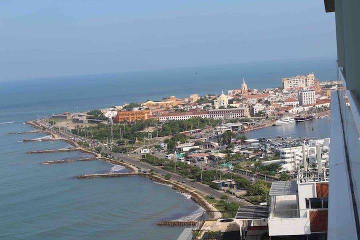 vista ciudad Amurallada desde el apartamento