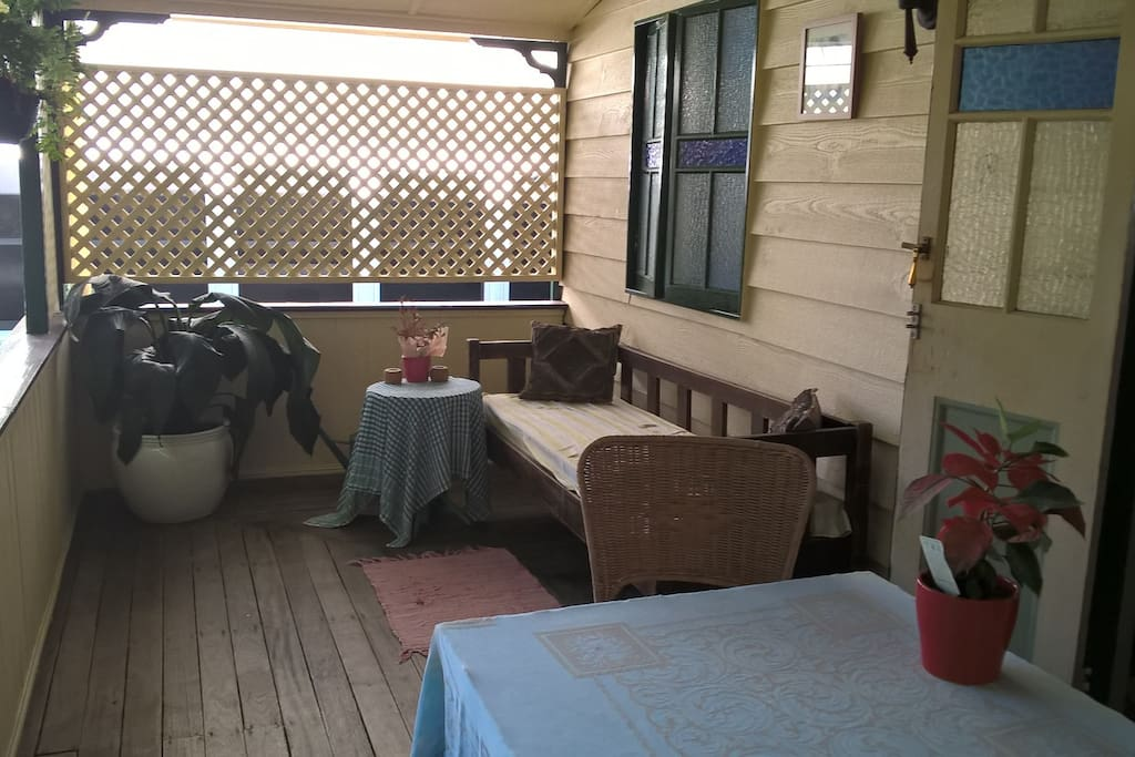 Snooze on my relaxing front verandah