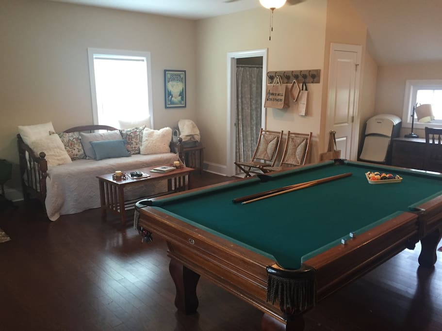 Pool Table and Day Bed/Couch - view from entrance