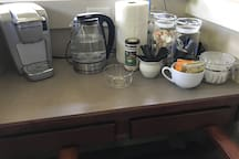 Coffee/Tea located in guest suite