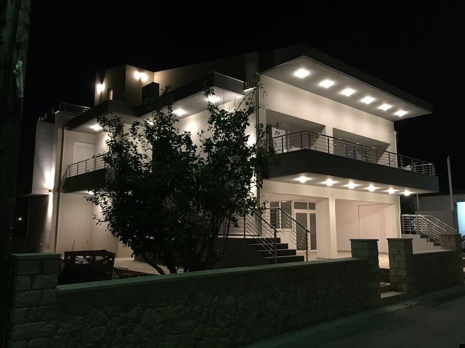 Night view of Villas