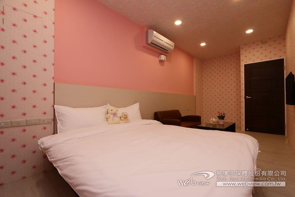 房型:粉紅小屋(雙人雅房)