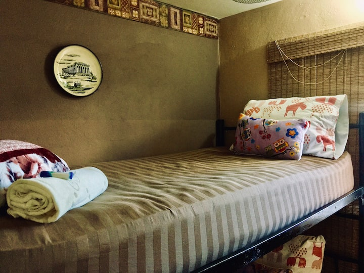 Hospedaje La Fuente - Bunked bed for 2 with bath