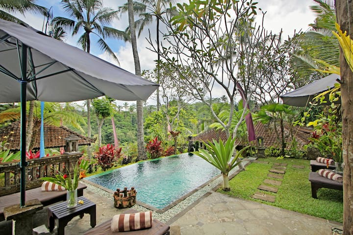 Stunning Valley View In Serene 2BR Villa Near Ubud