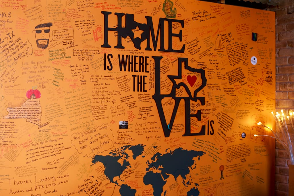 Our favorite reviews are the ones written on our walls - literally!