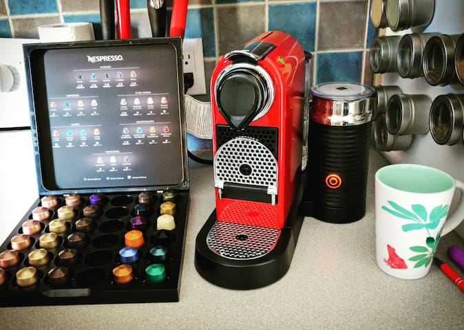 And of course... only the best Airbnbs  have super cool, red Nespresso machines to start your day! ;)