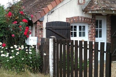 Maison ancienne rénovée, environnement champêtre.
