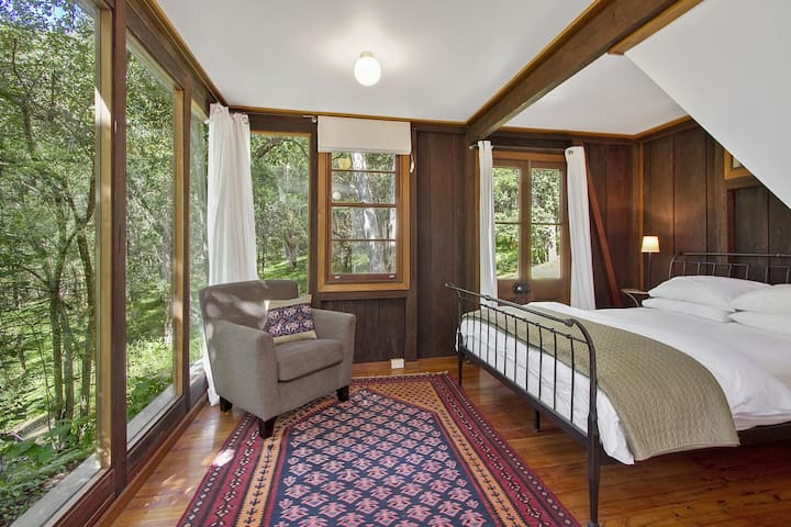 which houses second bedroom with Queen sized bed