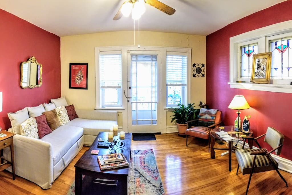 Living Room -- another view: General layout remains the same, although decor and furnishings may rotate.