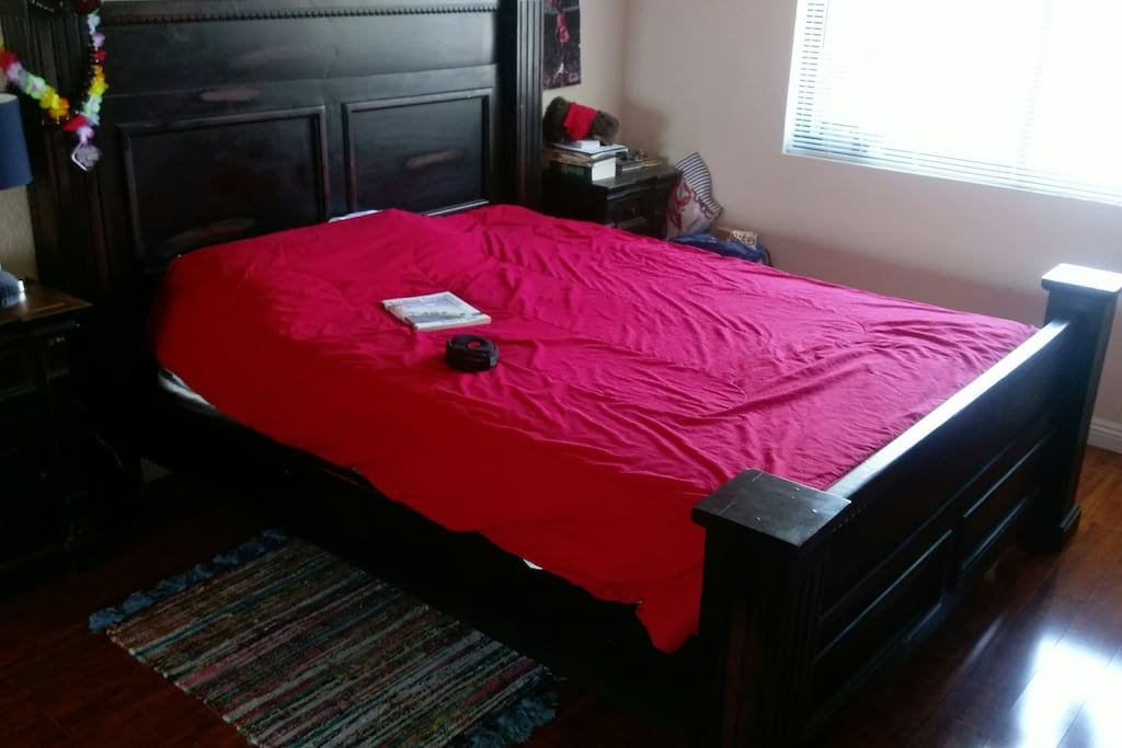 Wood Floor Queen bed