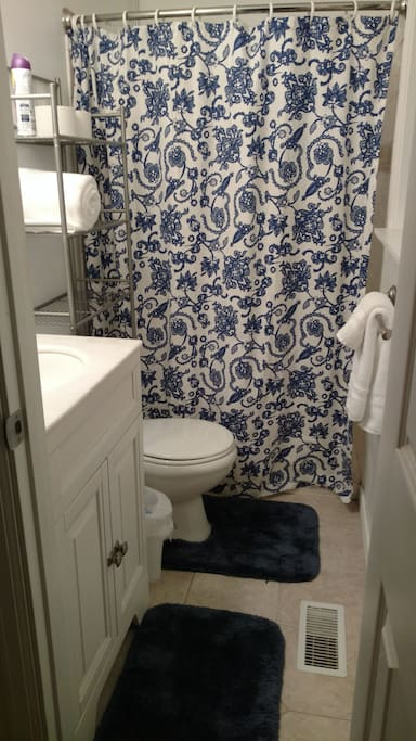 Enjoy total privacy in this attached bathroom