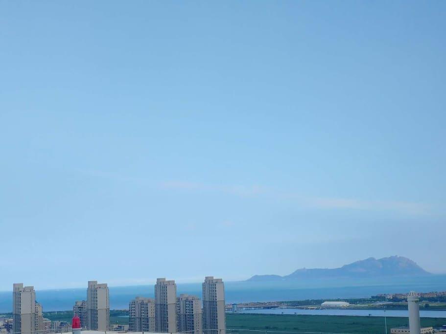 阳台眺望的海景