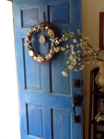 Our front door into our home