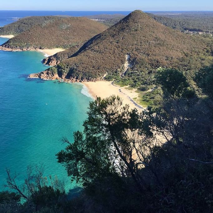 Views from Tomaree Mountain in Shoal Bay