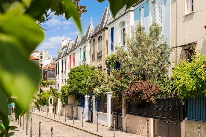 Rare House on Beautiful Parisian Pedestrian Street